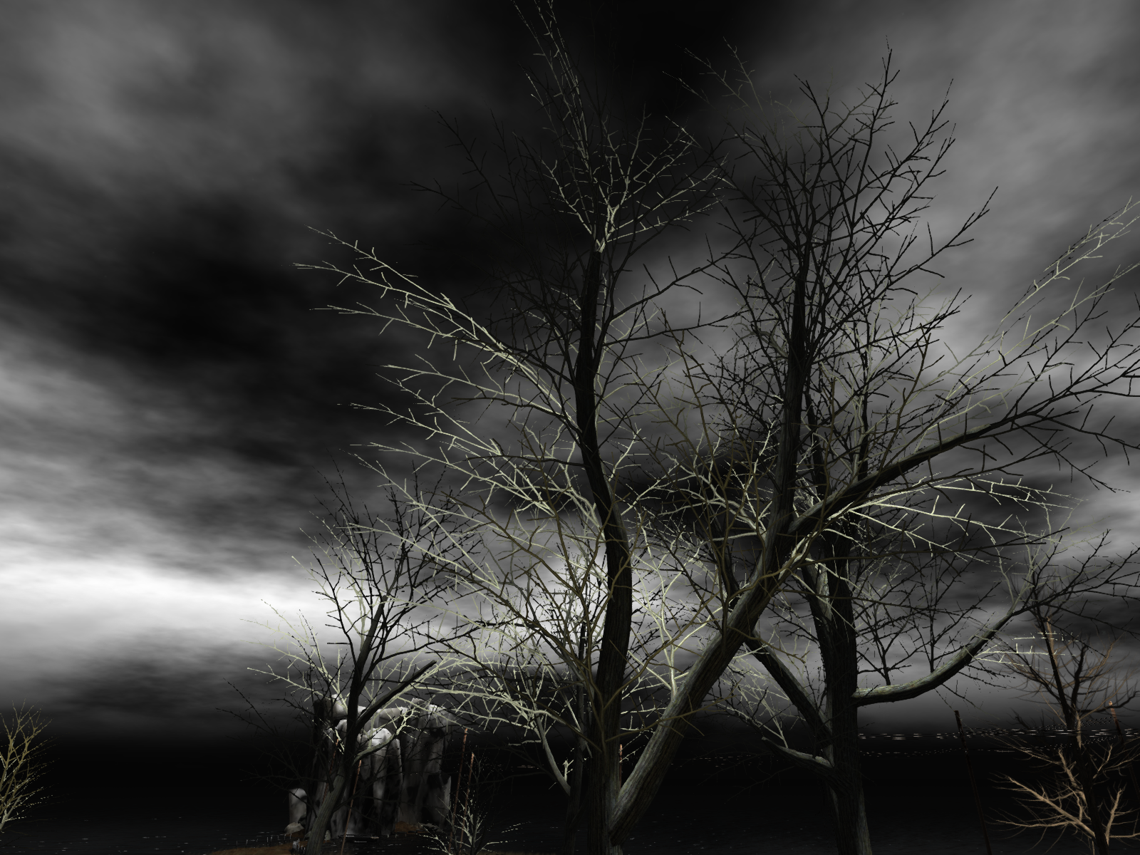 Haunted House Foursome Adult Stories scary trees