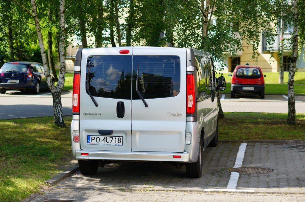 white van with dark windows